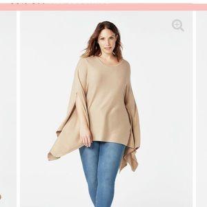 Super stylish poncho style sweater
